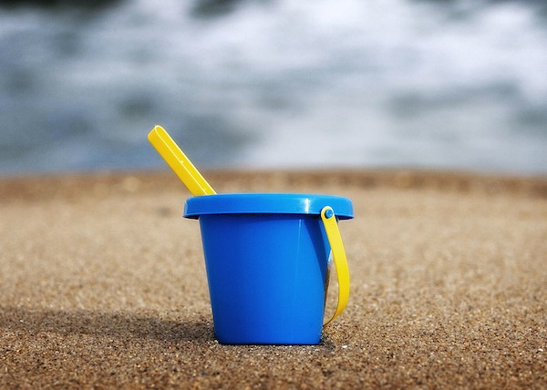 Sand Bucket, by David, via Wikimedia Commons