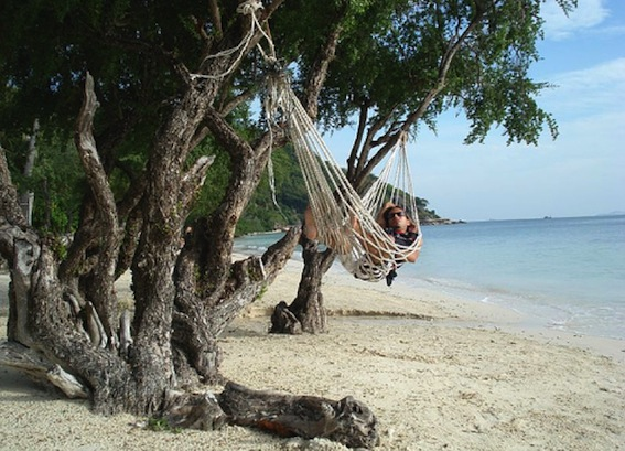 Picture of a hammock tied to a tree