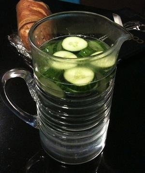 Cucumber Water in a Pitcher